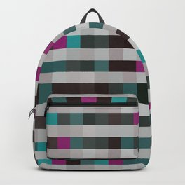 pixels pattern with colorful squares and stripes Backpack