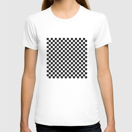 Black and White Checkerboard Pattern T-shirt