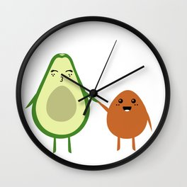 AVOCADO MOMMY AND AVOCADO KID Wall Clock