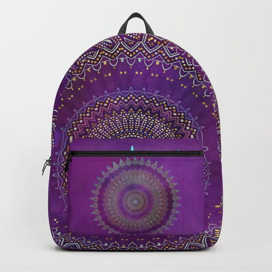 Precious Mandala in rich purple and pink tones Backpack