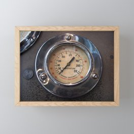 Heat - vintage industrial temperature gauge Framed Mini Art Print