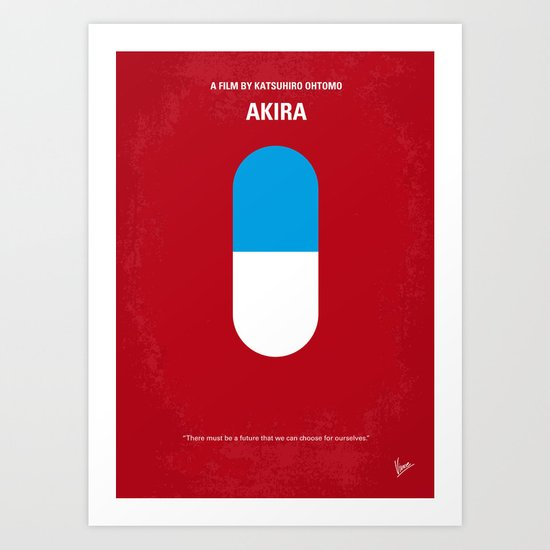No144 My AKIRA minimal movie poster Art Print