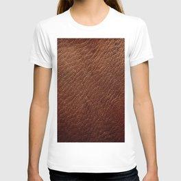 Leather Texture (Dark Brown) T-shirt