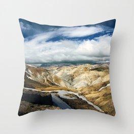 Landmannalaugar II Throw Pillow