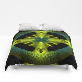 Spinning Wheel Hubcap in Lime Green Comforters