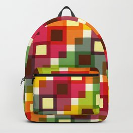 Geometric Pattern 227 (color squares) Backpack