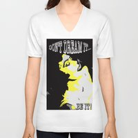 rocky horror V-neck T-shirts featuring Rocky Horror- Frank N Furter by MOD_PIE