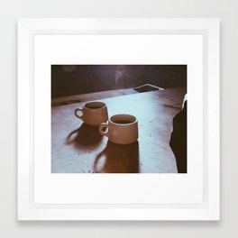 coffee light Framed Art Print