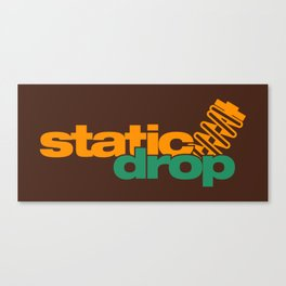 Static drop v6 HQvector Canvas Print