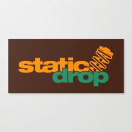 Static drop v6 HQvector Canvas Print