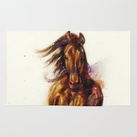 horse Area & Throw Rugs featuring Horse by beart24