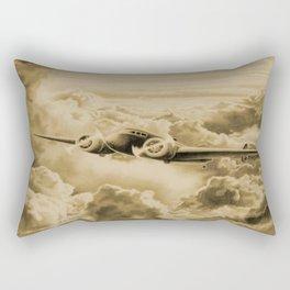 Ghost Flight- Amelia Earhart Sepia Rectangular Pillow
