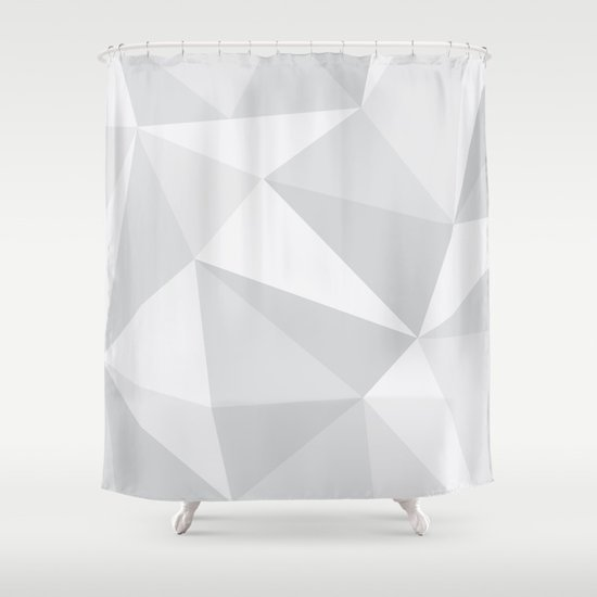 White Deconstruction Shower Curtain