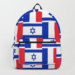 Mix of flag: france and israel Backpack