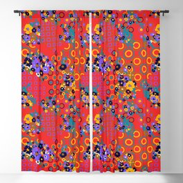Original 70s Psychedelic Fabric Blackout Curtain