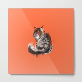 Norwegian Forest Cat Metal Print