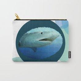 Shark Circles Carry-All Pouch