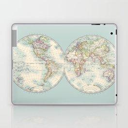Hemispheres on Blue Laptop & iPad Skin