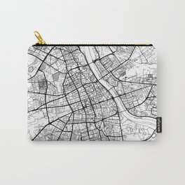Warszawa Map White Carry-All Pouch