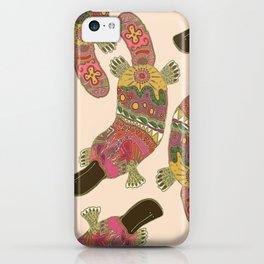 duck-billed platypus linen iPhone Case
