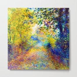 Renoir In the Woods Metal Print