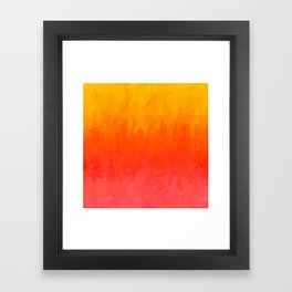 Coral, Guava Pink Abstract Gradient Framed Art Print