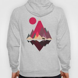 Fox Lands Nature Geometric Sun Hoody