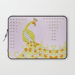 Peacock in Yellow Laptop Sleeve