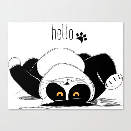 Hello :) Canvas Print