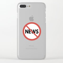 Toxic News Clear iPhone Case