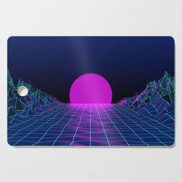 80's moon Cutting Board