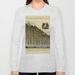 Vintage Print - A Comparative View of the Lengths of the Principal Rivers of Scotland (1822) Long Sleeve T-shirt