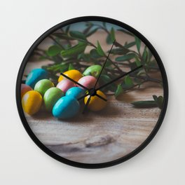 Easter Eggs 17 Wall Clock