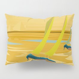 May Down Stream in Slow Motion - shoes stories Pillow Sham