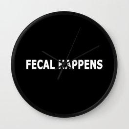 Fecal Happens Wall Clock