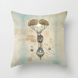 Asteroid Brain Diagnostics // (metaphysical deer) Throw Pillow