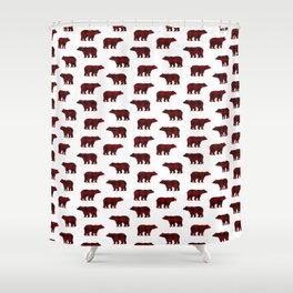 Lumberjack Bears Shower Curtain