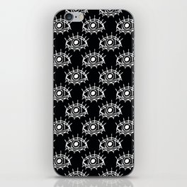 Eye of wisdom pattern - Black & White - Mix & Match with Simplicity of Life iPhone Skin