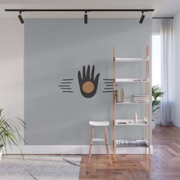 Hand High Five Sun Wall Mural
