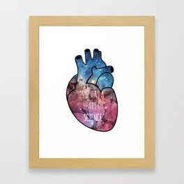 She Has a Heart of Science Framed Art Print