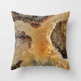 Septarian Nodule Throw Pillow