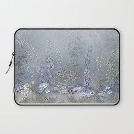 Misty Blue Garden Laptop Sleeve