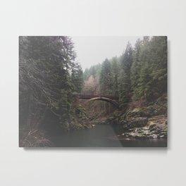Bridge at Moulton Falls, WA Metal Print