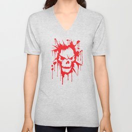 Bloody Skull | Heavy Metal Illustration Unisex V-Neck