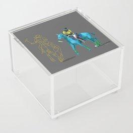 poloplayer turquoise grey Acrylic Box