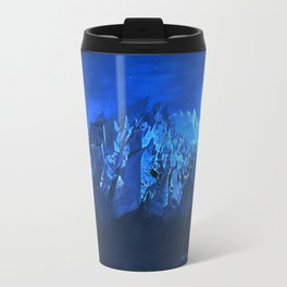 blue village Travel Mug