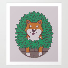 Just hangin' out here.. (Inu Series) Art Print