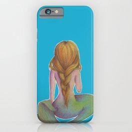 Yellow Haired Mermaid iPhone Case