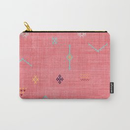 Cactus Silk Pattern in Pink Carry-All Pouch