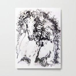 White Horse Metal Print